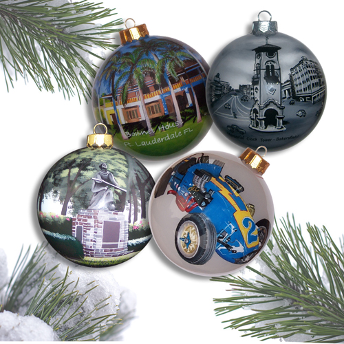 Custom Ornaments with Complex Artwork