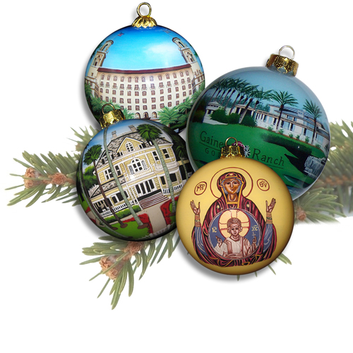 Custom Ornaments with Fine Artwork