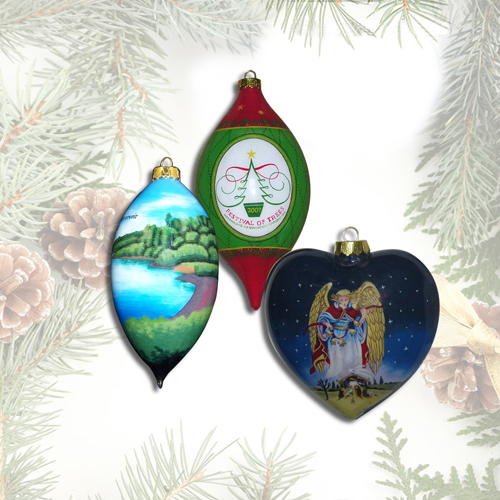 Custom Ornaments in a Variety of Premium Shapes